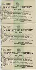 New South Wales state lotteries consecutive join run of 3 J.R Cameron Director