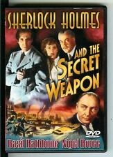 SHERLOCK HOLMES AND THE SECRET WEAPON, rare US Basil Rathbone DVD film