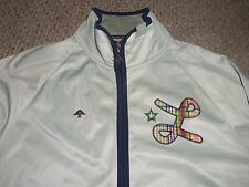 MENS LRG ROOTS AND EQUIPMENT GRAY EMBROIDERED SPORTS TRACK ZIP UP JACKET SIZE XL