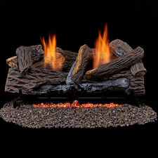 "33k btu 24"" Vent Free Fireplace Log Set Propane or Natural Gas w/ T-Stat stkd"