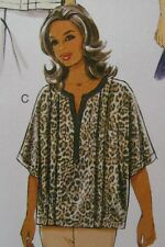 Plus Size Womens Pattern Tunic Top Sz RR 18W 20W 22W 24W Butterick 6147 NEW