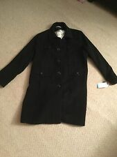 NWT Via Spiga Black Wool Coat Sz 20W