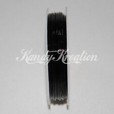 0.8mm 10 Meters Black Elastic String for Kandi Rave Kids Craft Bracelets Jewelry