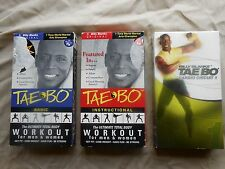 Billy Blanks Tae Bo Ultimate Total Body Workout Set of 3 VHS, Cardio Circuit