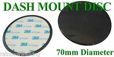 70mm arrotondato Dashboard Mount Disc-con 3m Adesivo Sticky Pad-GRATIS UK POST