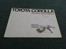 1973 / 1974 TOYOTA COROLLA 1200 DELUXE SALOON / COUPE / ESTATE - UK BROCHURE