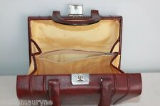 VINTAGE Sac Mallette  Cuir Bordeaux  TBE