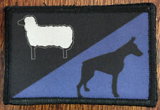 Sheep Dog Police Flag Morale Patch Tactical Military Army Hook Badge USA EMT