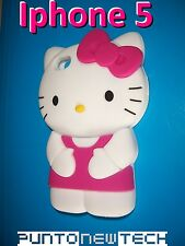 Cover CUSTODIA per IPHONE 5 5S Silicone HELLO KITTY 3D/Silicon Case 3D