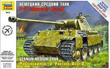 1/72 German PzKpfw V Panther Ausf D Tank ZVEZDA 2010 model kit