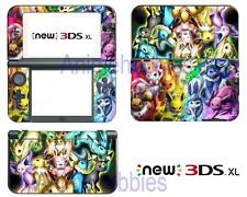 Anime Pokemon Eeveelution Vinyl Skin Stickers Decal for Nintendo New 3DS XL 2015