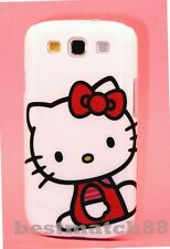 FOR SAMSUNG GALAXY S3 cute hello kitty CASE WHITE W/ RED BOW & DRESS