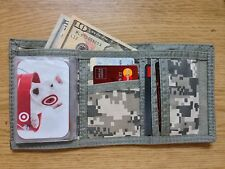 Tri-Fold Digital ACU Army Military Digital Camo Cloth Wallet Bill Fold Men's