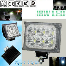 Waterproof 6 LED 18W Car SUV Boat Truck Offroad Driving Work Light Fog Spot Lamp