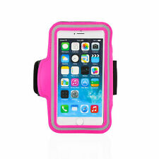 "iPhone 6 4.7"" Hot Pink Premium Sports Armband Cover Case Running Gym Workout"
