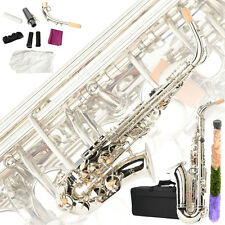 New LADE WSS-890 Brass Eb Alto Saxophone Silver Sax with Other Accessories
