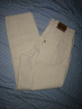 VTG LEVIS MENS 546 Loose Fit Tapered Leg ORANCE TAB BEIGE JEANS Sz 34X30