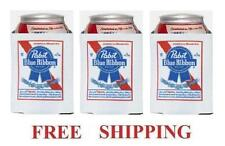 PABST BLUE RIBBON PBR 3 BEER CAN COOLERS KOOZIE COOLIE HUGGIE COOZIE NEW