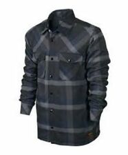 Mens Nike Raleigh Flannel Button down Jacket Coat Size Medium 577240 NWT $110