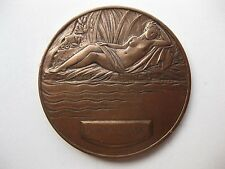 French Art Nouveau Medal Thermalism, Hygieia by Anie Mouroux