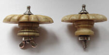 Two similar antique .925 Silver & bone finials ideal for Tea & Coffee pots etc