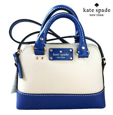NWT Kate Spade Wellesley Mini Rachelle Satchel Crossbody Bag Pebble/Blue $198