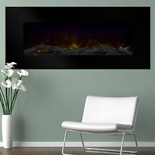 Electric Led Fireplace with Color Changing Effects Remote 50 x 21 Tempered Glass