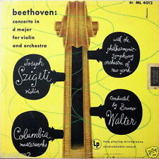 JOSEPH SZIGETI / Beethoven Violin Concerto / Columbia Blue Label ML 4012