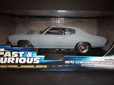 Ertl Chevrolet Chevelle SS Fast and Furious Flat Grey 1970 1/18
