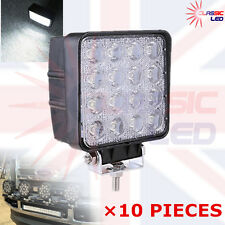 10X 48W Square LED Flood Work Light john deere valtra fendt Tractor 12V 24V IP67