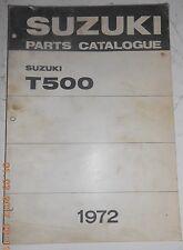 1972 72 SUZUKI T500 T 500 II PARTS CATALOG SHOP SERVICE REPAIR MANUAL CATALOGUE
