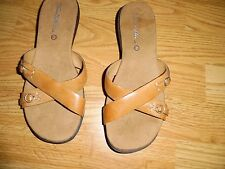 THOM MCAN Thommcan BROWN LEATHER SLIDE SANDAL SHOE SIZE 6 M