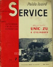 Service P.L n°7 - 1959 - Revue technique automobile  - Unic Zu 6 cylindres
