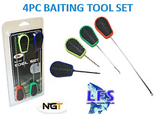 A0290 NGT 4PC BAITING TOOL SET CARPFISHING INNESCO BOILIES HAIR RIG CARPFISHING