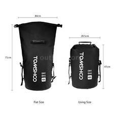 40L Military Waterproof Dry Bag Backpack Floating Canoe Kayak Fishing Black Y9V9
