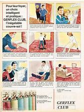 PUBLICITE ADVERTISING 105  1964  GERFLEX-CLUB   revetement sol couvre-sol