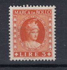 1959 DEA ROMA MARCA DA BOLLO 3 LIRE TESTA PICCOLA S.G. BEN CONSERVATA RARA