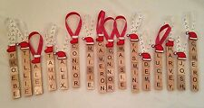 Scrabble Christmas Tree Decorations Personalised