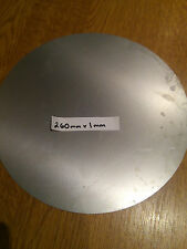 260mm x 1mm Round Disc Circle Mild Steel Sheet Plate Size