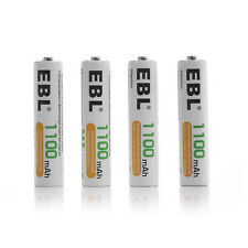 4x EBL AAA Ni-MH R03 Rechargeable Batteries For Flashlights MP3 Toys Camera