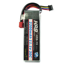 HRB 2200mAH 30C 11.1V 3S Lipo Battery For RC Trex-450 Fied-wing Helicopter Car