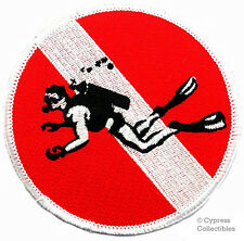 SCUBA DIVING EMBROIDERED IRON-ON DIVE PATCH skin diver