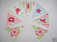 PERSONALISED BUNTING CATH KIDSTON FABRIC - WOBBLE STRIPE - £2.50/lettered flag