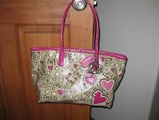 Authentic Coach poppy coated canvas graffiti Tote