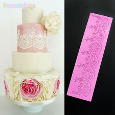 Lace Flower Silicone Fondant Mat Cake Decorating Baking SugarCraft  Mold Tools