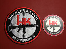"Heckler & Koch Guns 'No Compromise' Embroidered 3""Patch + FREE H&K PHONE STICKER"
