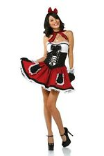 NEW LADIES SEXY LITTLE RED RIDING HOOD COSTUME HEN DOO FANCY DRESS PARTY OUTFIT