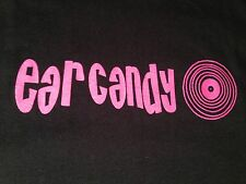 EAR CANDY LA RECORD STORE 100% Cotton Black Graphic Tee Short Sleeve T-Shirt M