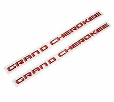 2x OEM Red High Quality Grand Cherokee Altitude Emblems Nameplate Jeep Badges
