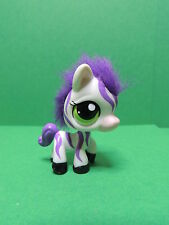 #2470 Zèbre / Zebra LPS Littlest Pet Shop Figurine 2008 White Purple Fuzzy Hair